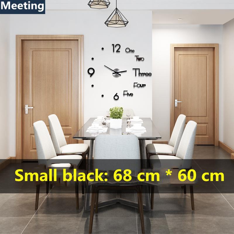 3D Wall Clock Modern Design DIY Digital Wall Sticker Clocks Home Decoration Clock Family Gifts