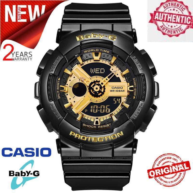 (Ready Stock) Original BABY G BA-110-1A Men Sport Watch Duo W/Time 200M Water Resistant Shockproof and Waterproof World Time LED Auto Light Wrist Sport Digital Watches with 2 Years Warranty BA110/BA-110 Malaysia