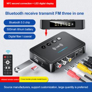 Bộ Thu Bluetooth NFC Mới Về 2021, Bộ Phát Bluetooth 5.0 Bộ Chuyển Đổi Bluetooth Ba Trong Một FM Với Điều Khiển Từ Xa thumbnail