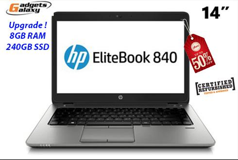 HP ELITEBOOK 840 I5-4th Gen 8GB 240GB SSD ( Refurbished )