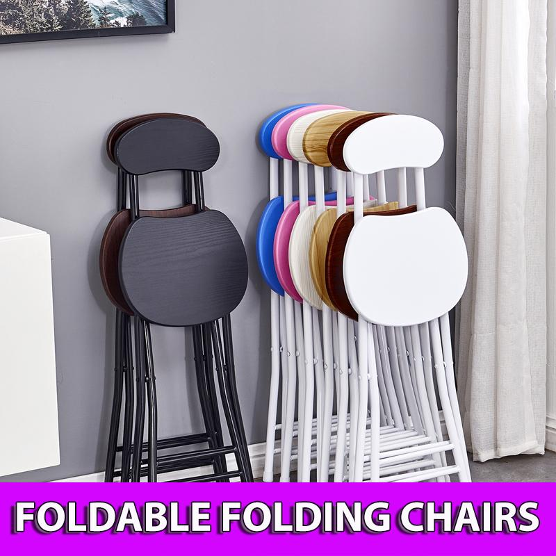 Colorful Folding Portable Foldable Chair - White