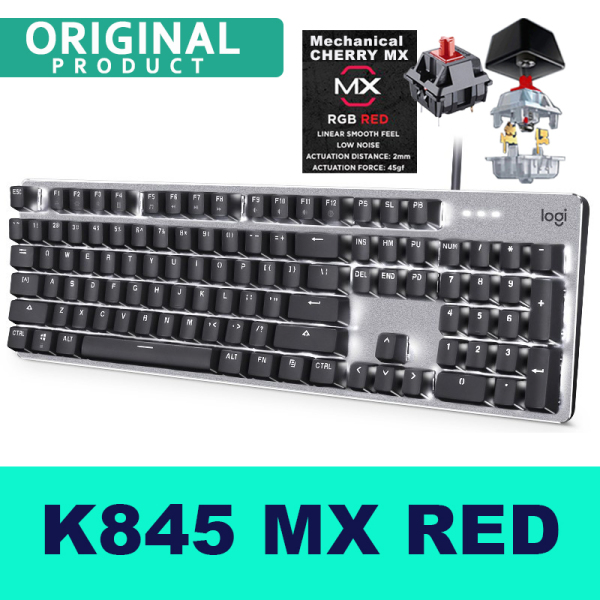 Logitech K845 CHERRY MX Wired Gaming Mechanical Ergonomic Design Keyboard Backlight Gaming Keyboard For Computer Singapore