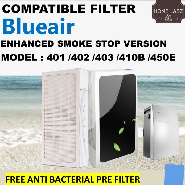 Compatible Smokestop filter for Blueair Air Purifier 401 402 403 410B 450E (FREE Anti Bacteria Layer) Singapore