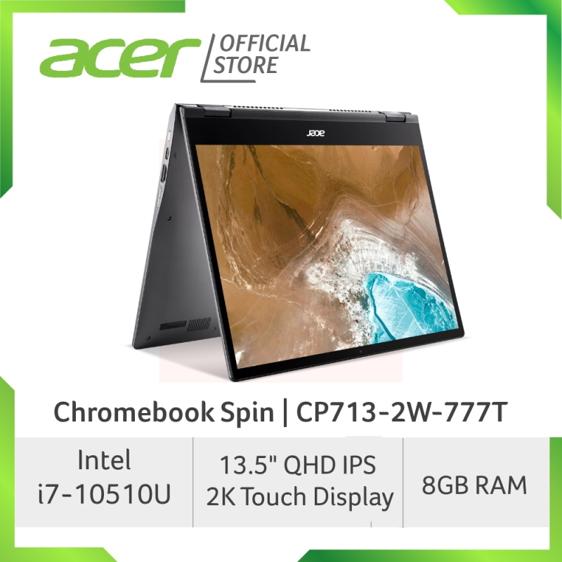 [NEW MODEL] Acer Chromebook CP713-2W-777T - 13.5 Inch IPS QHD 2K Convertible Touch Screen and 10th Gen i7-10510U Processor