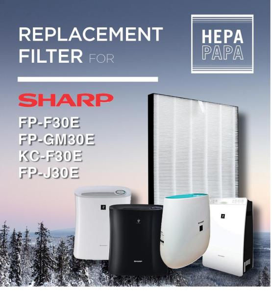 Compatible HEPA Filter for Sharp FP-F30E/FP-GM30E/KC-F30E/FP-J30E (FZ-F30HFE) [Free Alcohol Swab] [SG Seller] [7 Days Warranty] Singapore