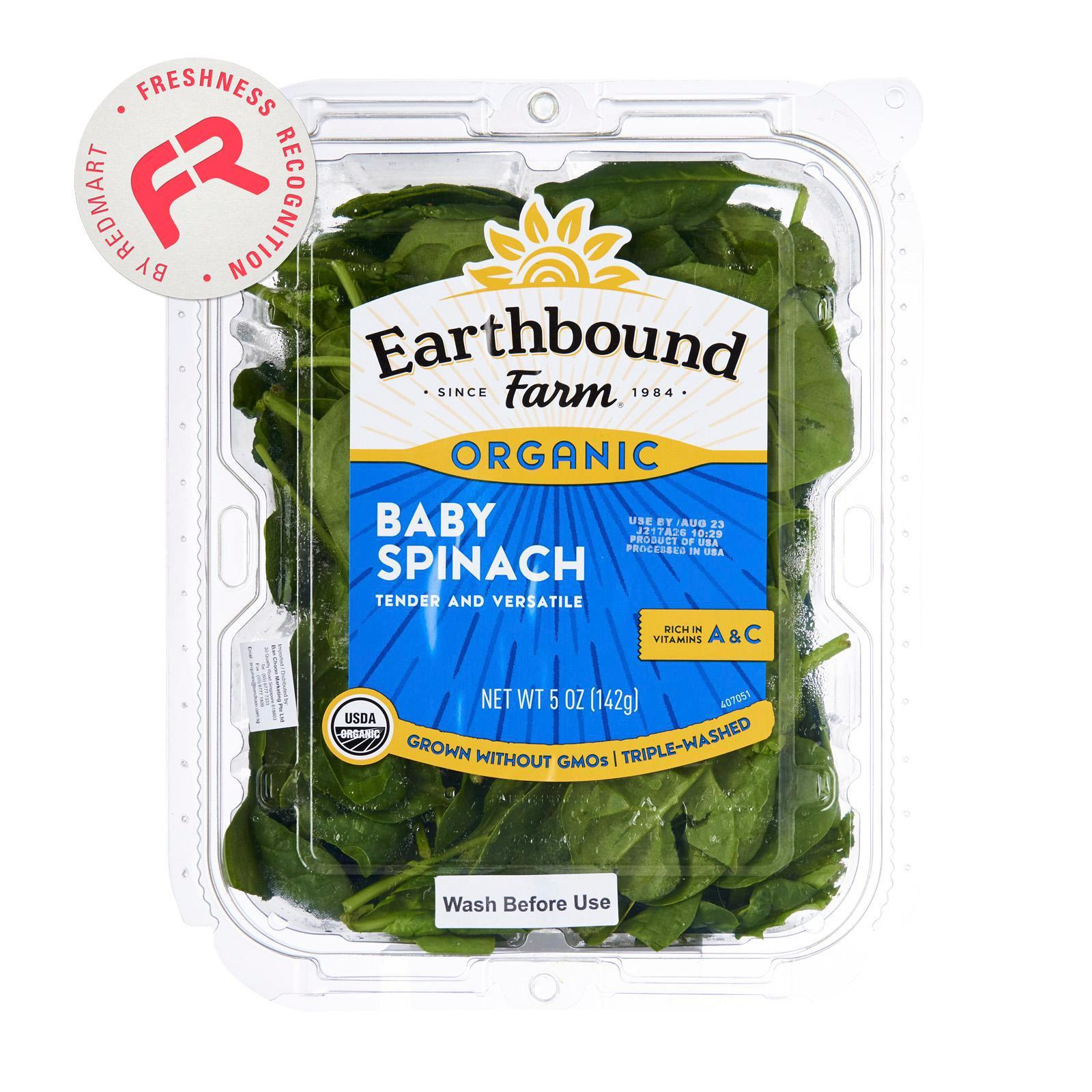 Earthbound Organic Baby Spinach By Redmart.