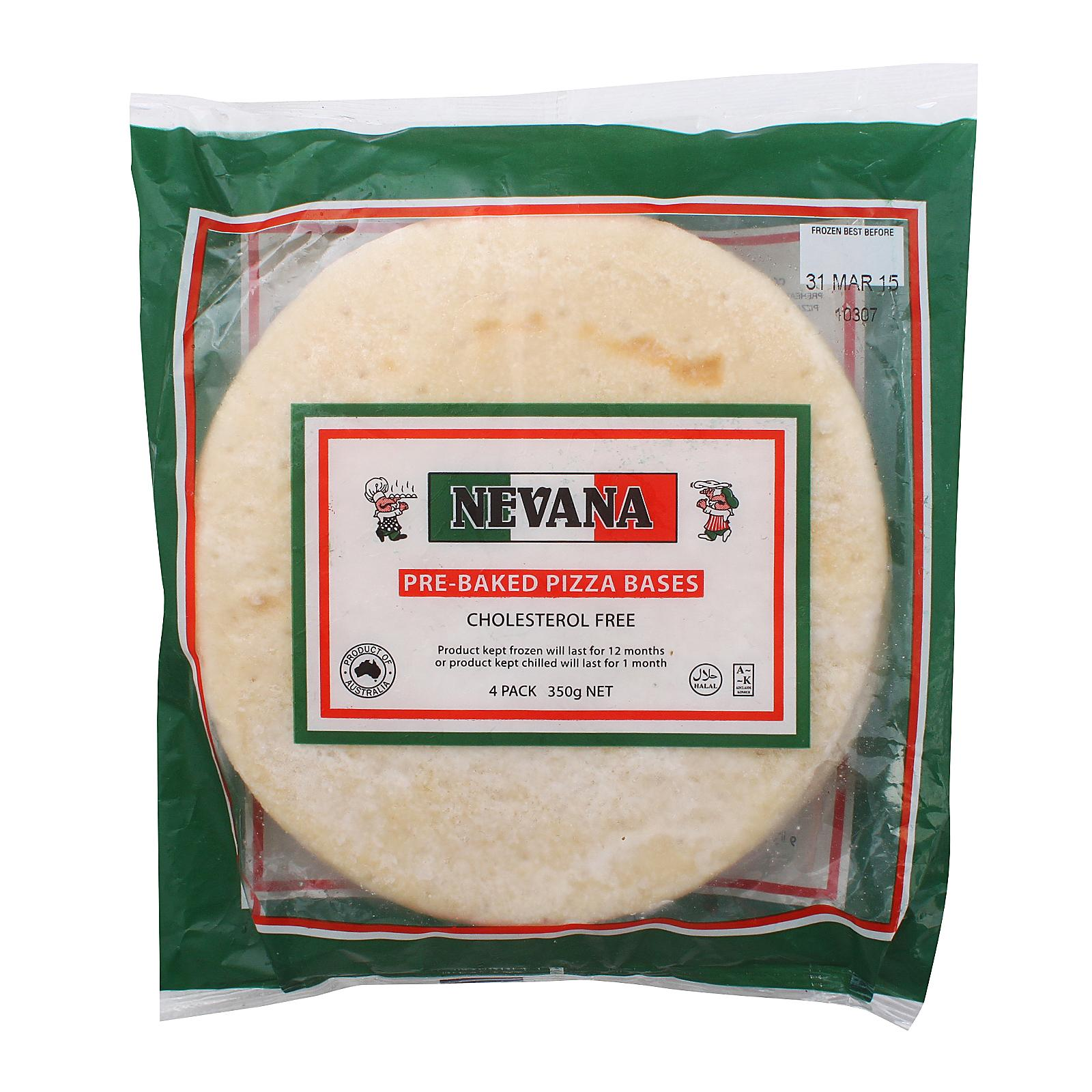Nevana Pizza Base 7 4pcs - Frozen By Redmart.