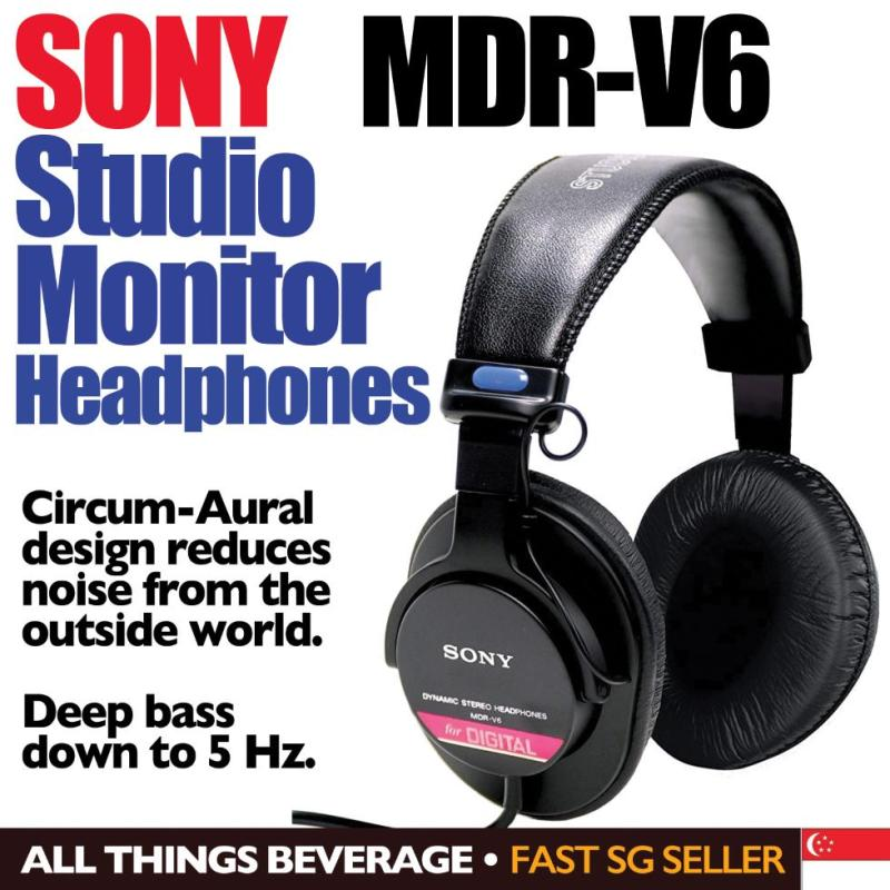 Sony MDRV6 MDR-V6 Studio Monitor Headphones with CCAW Voice Coil Singapore