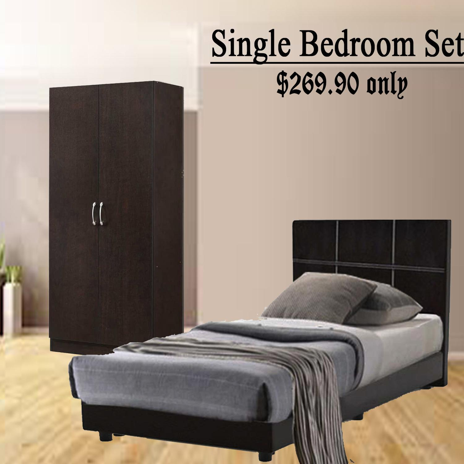 LIVINGMALL  Nova Single Bedroom Set_FREE DELIVERY + FREE INSTALLATION