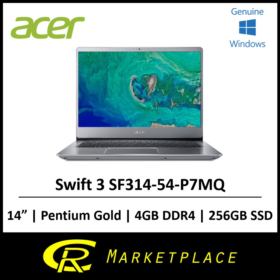Acer Swift 3 SF314-54-P7MQ 8th Gen Pentium® Gold™ 4417U 4GB DDR4 256GB SSD
