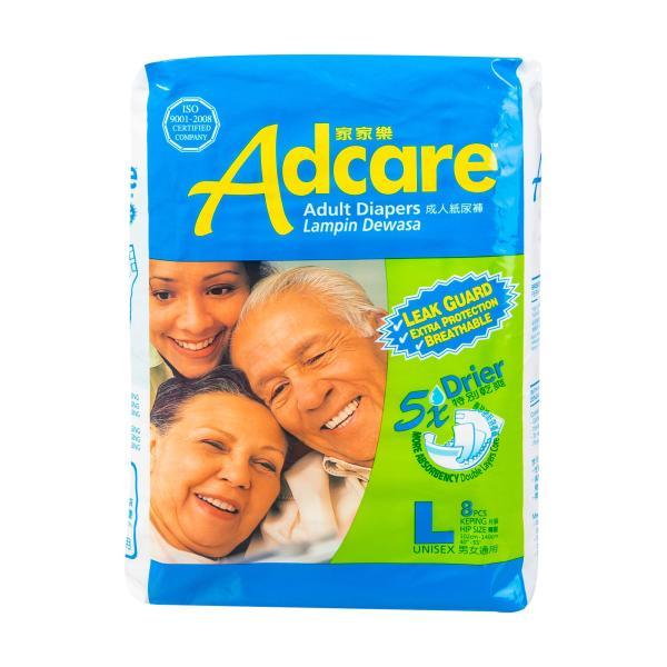 Buy Adcare Adult Diapers Leak Guard (L Size 8 PCS) Singapore