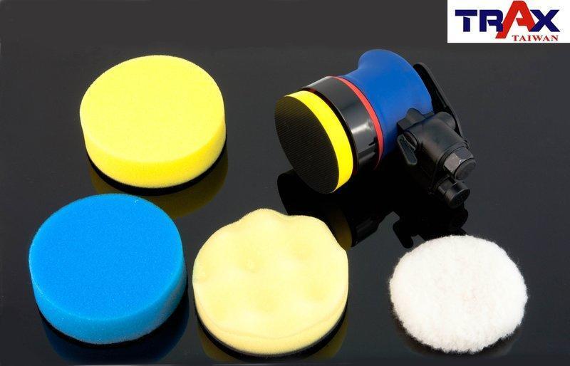 3″ Polisher Kit [ARX-OB3K] (Made in Taiwan)日本培林3吋2.5mm偏軸氣動打蠟機/研磨機/DA打蠟機](3海綿+1羊毛輪)