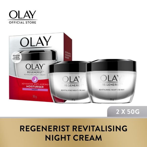 Buy [Bundle of 2] Olay Regenerist Revitalising Night Cream 50g Singapore