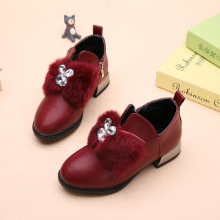 2021 Mùa Xuân Và Mùa Thu Mẫu Mới Khởi Động Học Sinh Tiểu Học Giầy Trẻ Em Bé Gái Giày Công Chúa Hàn Quốc Dr. Martens Khởi Động Ấm Giày Cotton thumbnail