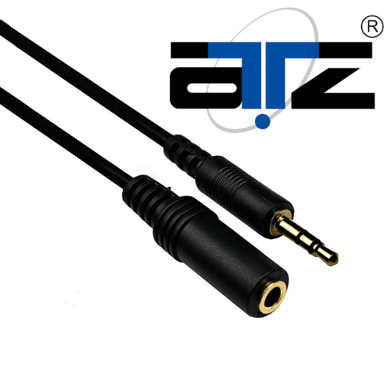 ATZ Stereo 3.5mm Male to Female Audio Cable (0.5m / 1m / 2m), 3.5mm male to 3.5 female connector, 3.5mm extension audio, 3.5mm male jack, 3.5mm female connector Singapore