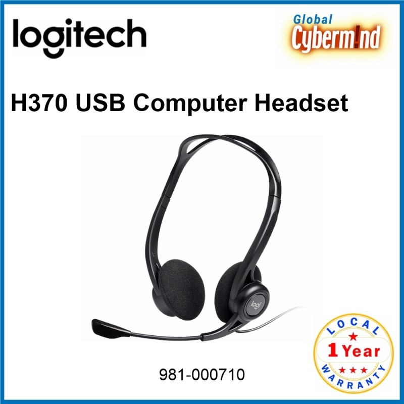 LOGITECH H370 USB Computer Headset [981-000710] ( Brought to you by Cybermind ) Singapore