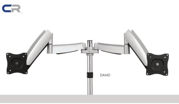 *SG EX STOCKS* DUAL MONITOR ARM (CLAMP/GROMMET) MONITOR UP TO 9 KG