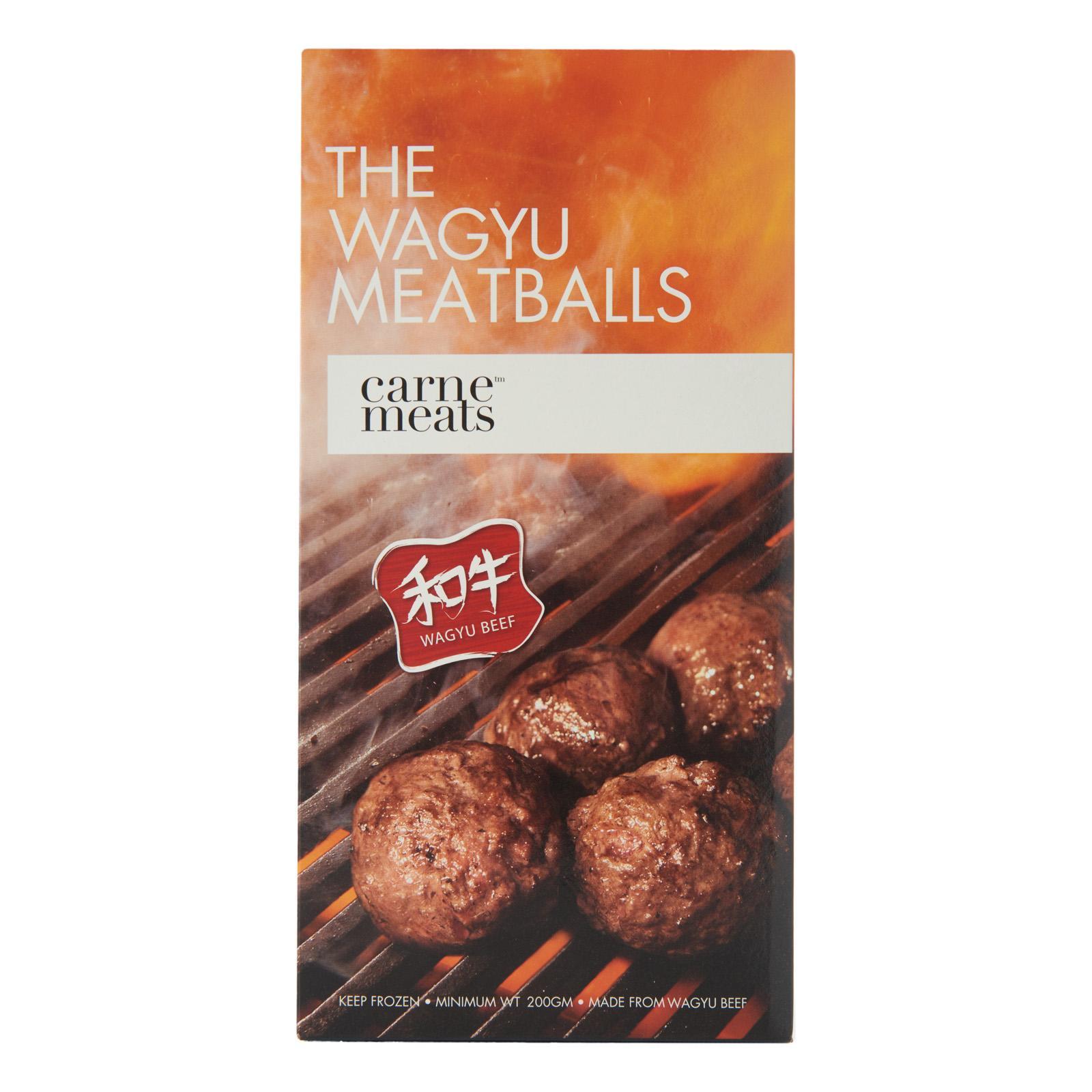 Carne Meats Wagyu Beef Meatballs - Frozen