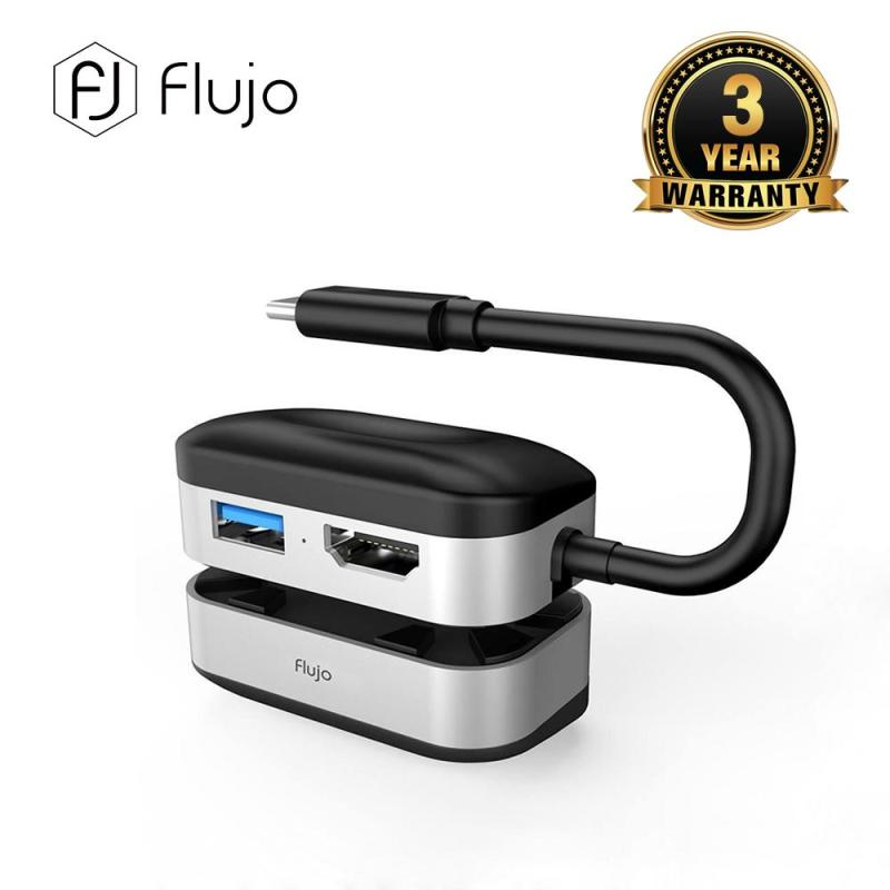 Flujo 4K HDMI & USB 3.0 Adapter with Laptop Stand  pad radiator Computer cooling base macbook with high shelf  MAC stand pro desktop height increase Portable cervical portable bracket