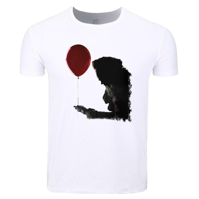 0c78399e932 Asian Size Pennywise Movie It Losers Print T-shirt O-Neck Short Sleeve The