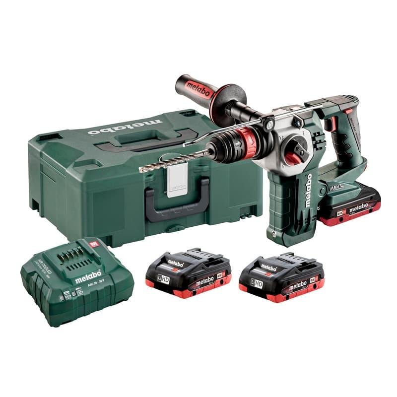 KHA 18 LTX BL 24 QUICK Set Cordless Hammer with 3*battery and charger