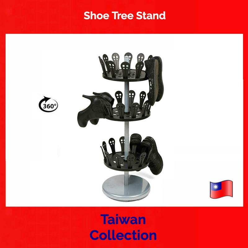 TAIWAN COLLECTION, Shoe Tree Stand - shoe anger, Shoe Drying, 3-Tier, Holds 18 Pairs, Adjustable, Storage