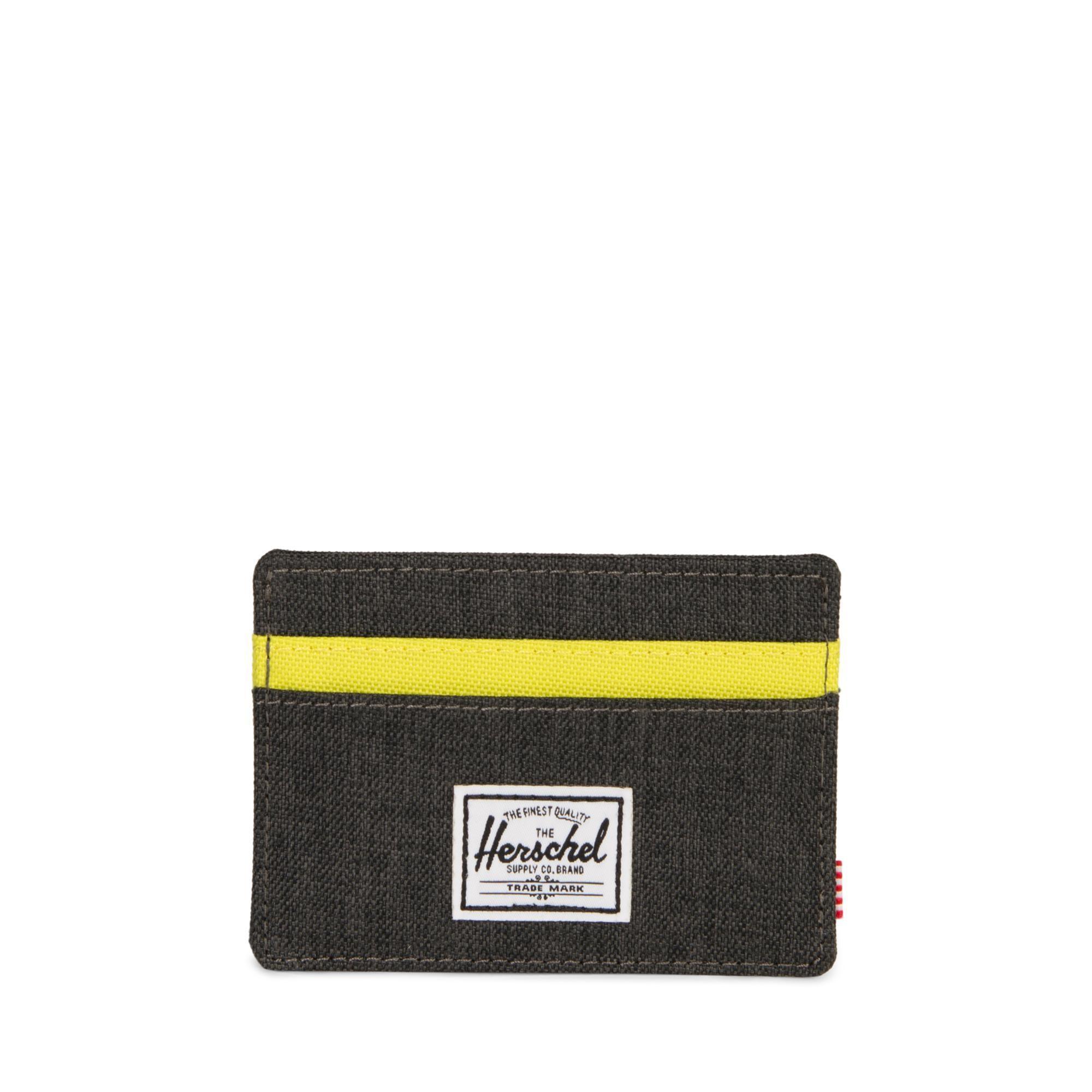 Herschel Charlie RFID - Black Crosshatch/Evening Primrose