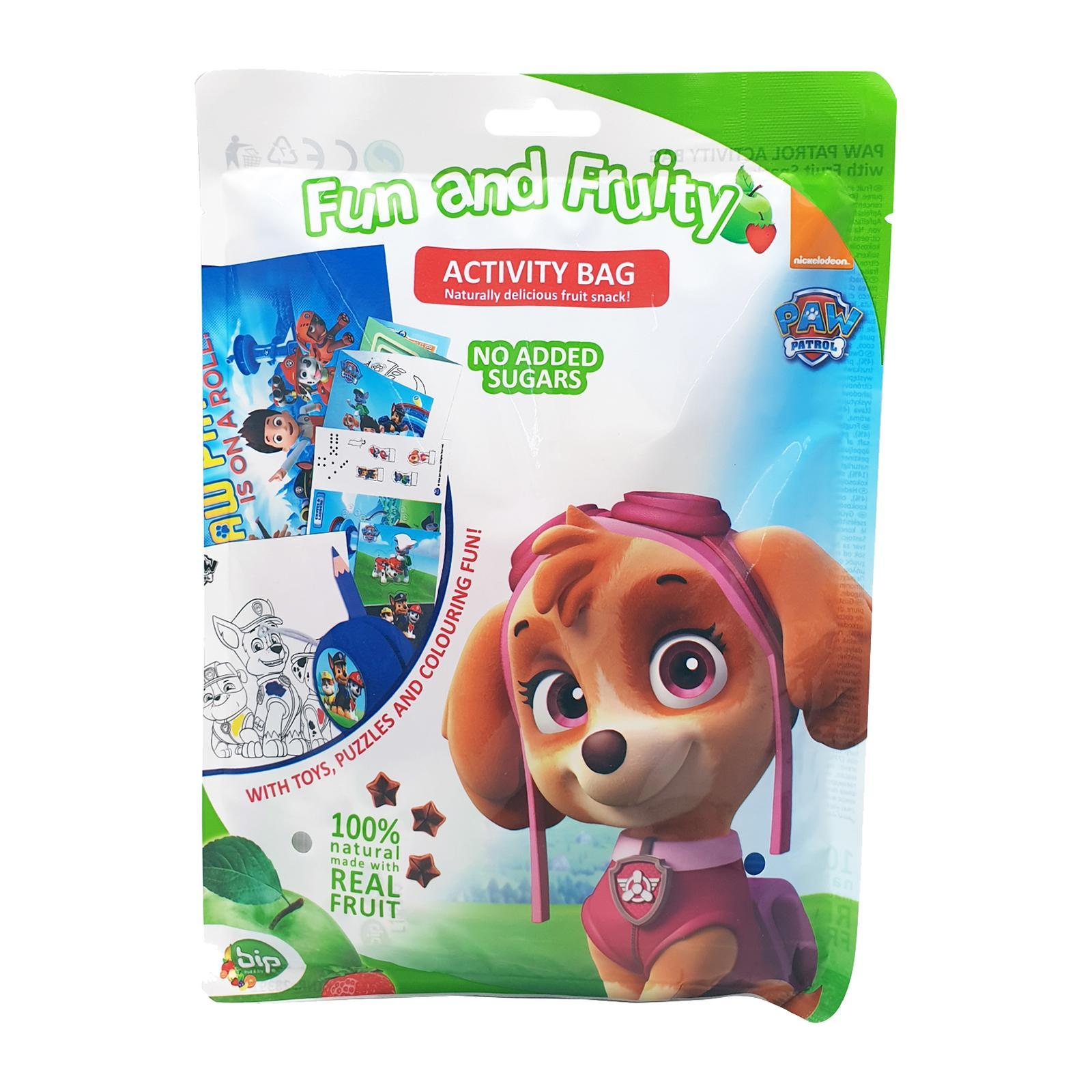 Paw Patrol Activity Bag 5g (fruit snack w/ toys puzzles and colouring fun) - Skye