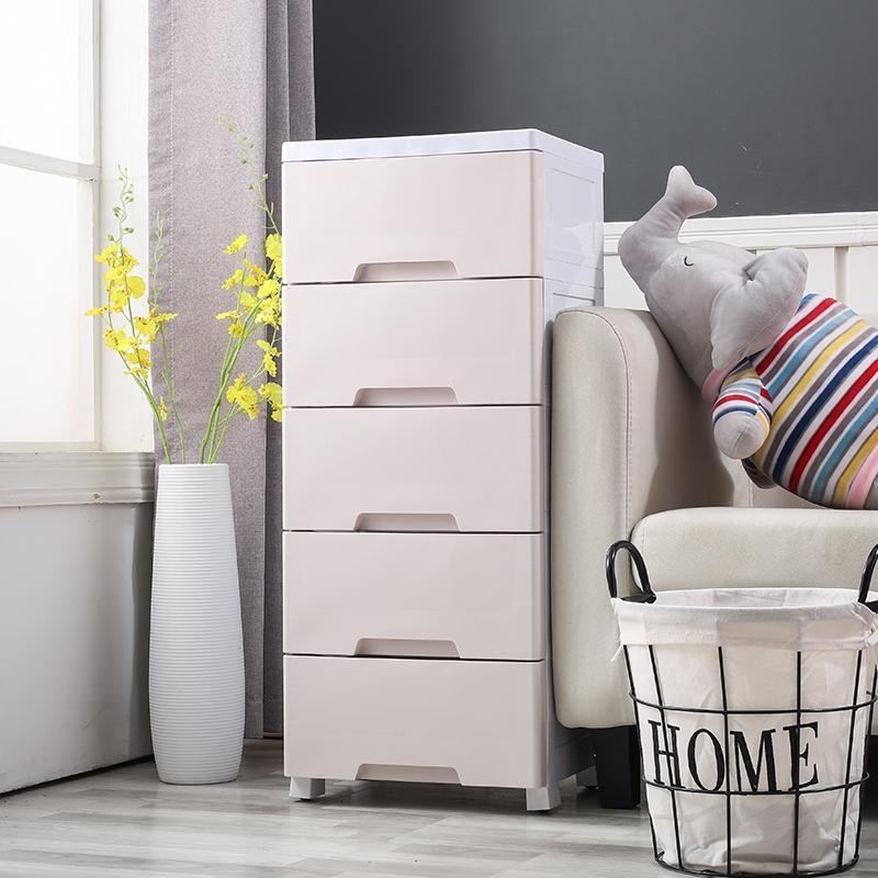 20/25/37cm Wide between Storage Cabinets Drawer-type Bathroom Plastic Storage Cabinet Sub-Narrow Kitchen Shelves