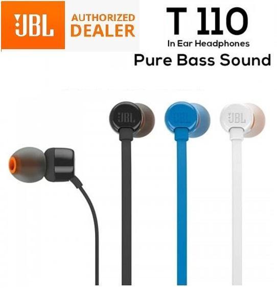 JBL T110 In-Ear Earphones Headset Headphones with Mic Singapore