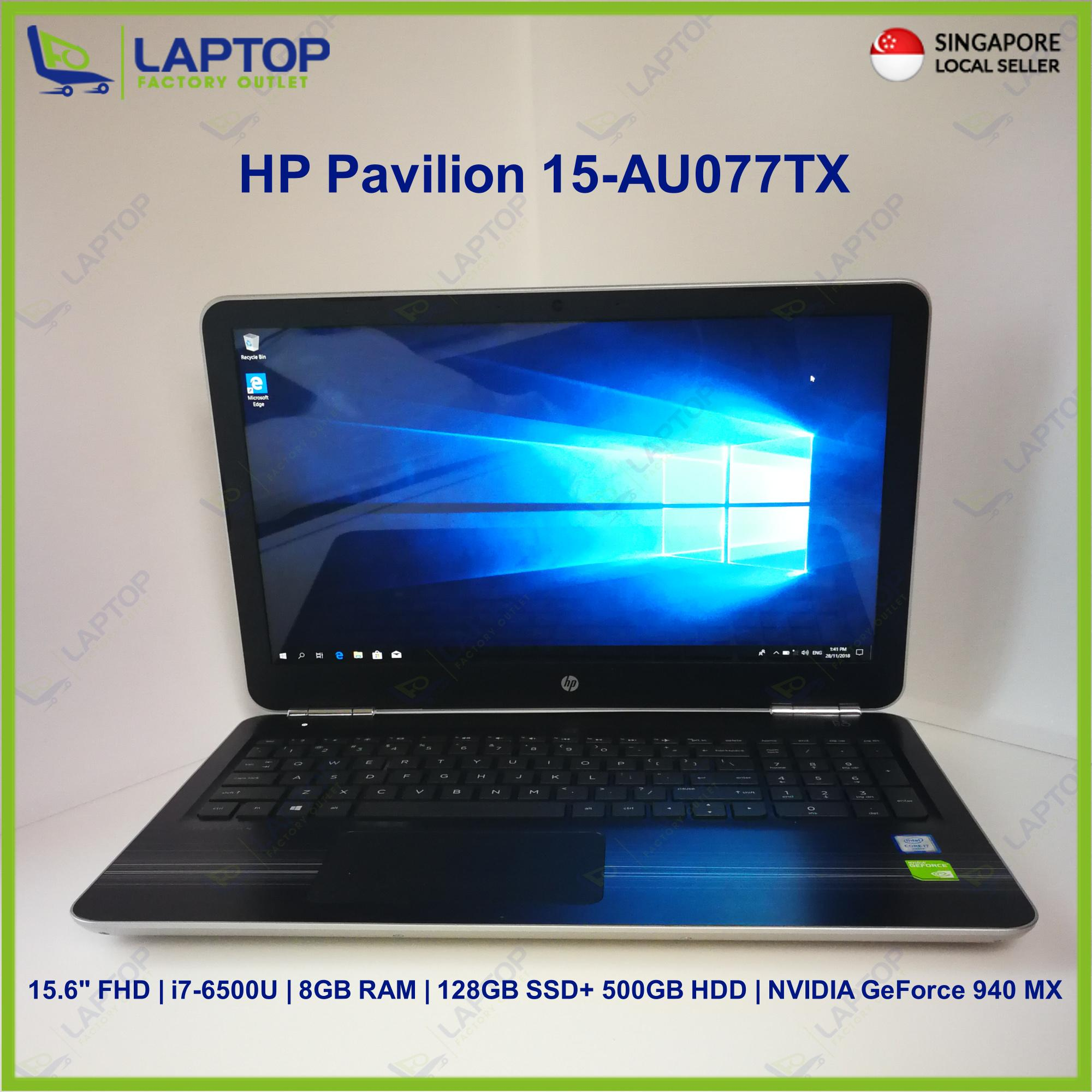 HP Pavilion 15-AU077TX (i7-6/8GB/500GB+128GB) Premium Preowned [Refurbished]