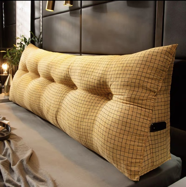 (SG BASED READY STOCK) Bed Headboard Cushion for back rest support Premium quality Big Pillow Comfortable soft washable (SG BASED READY STOCK)