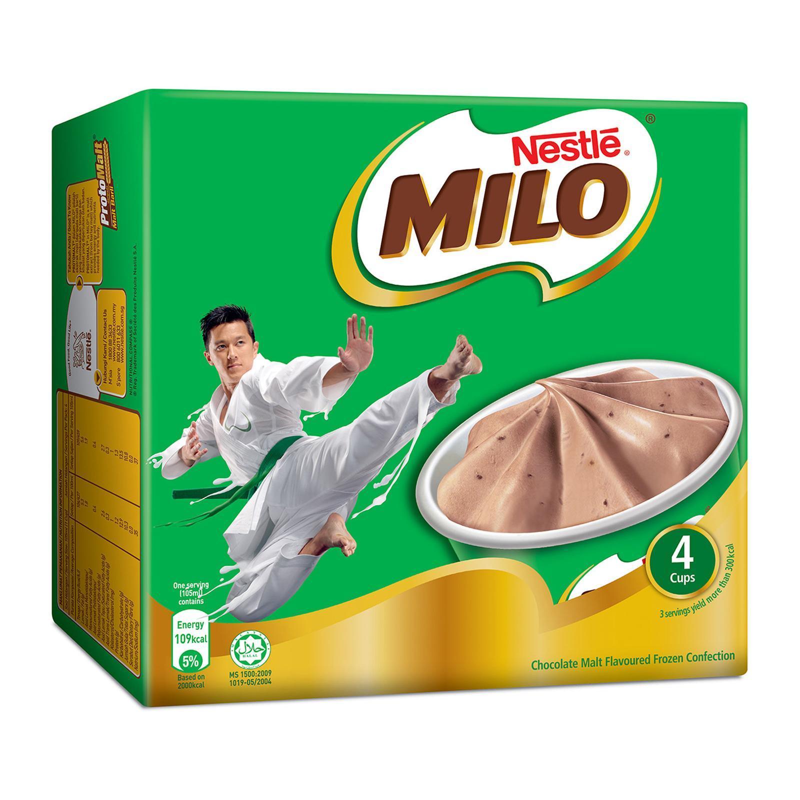 NESTLE Milo Cup Multipack Ice Cream 4sX105ml