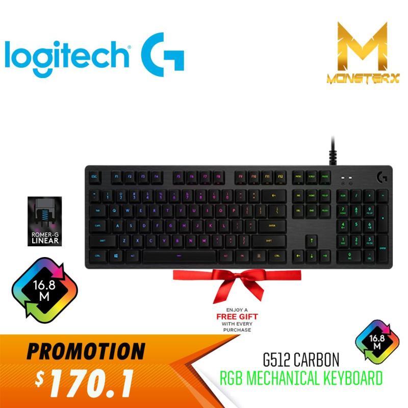 Logitech G512 Romer-G Carbon (LINEAR) RGB Mechanical Gaming Keyboard Singapore