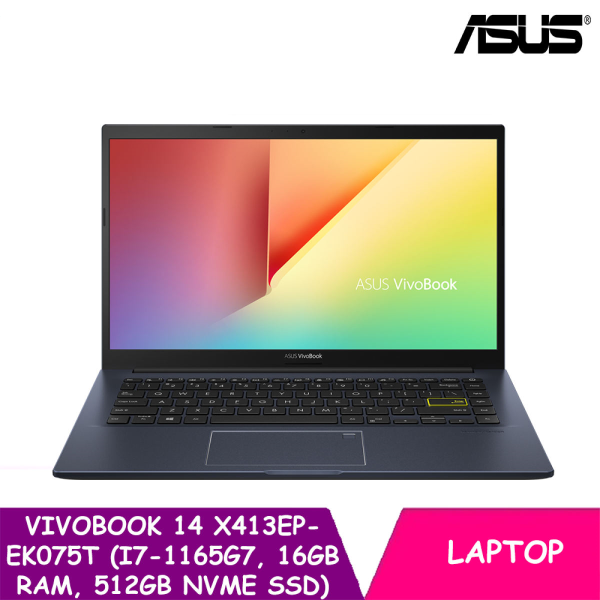 ASUS VivoBook 14 X413EP-EB161T  (14 Inch | i7-1165G7 | 16GB RAM | 512GB NVMe SSD | WIN 10 HOME)