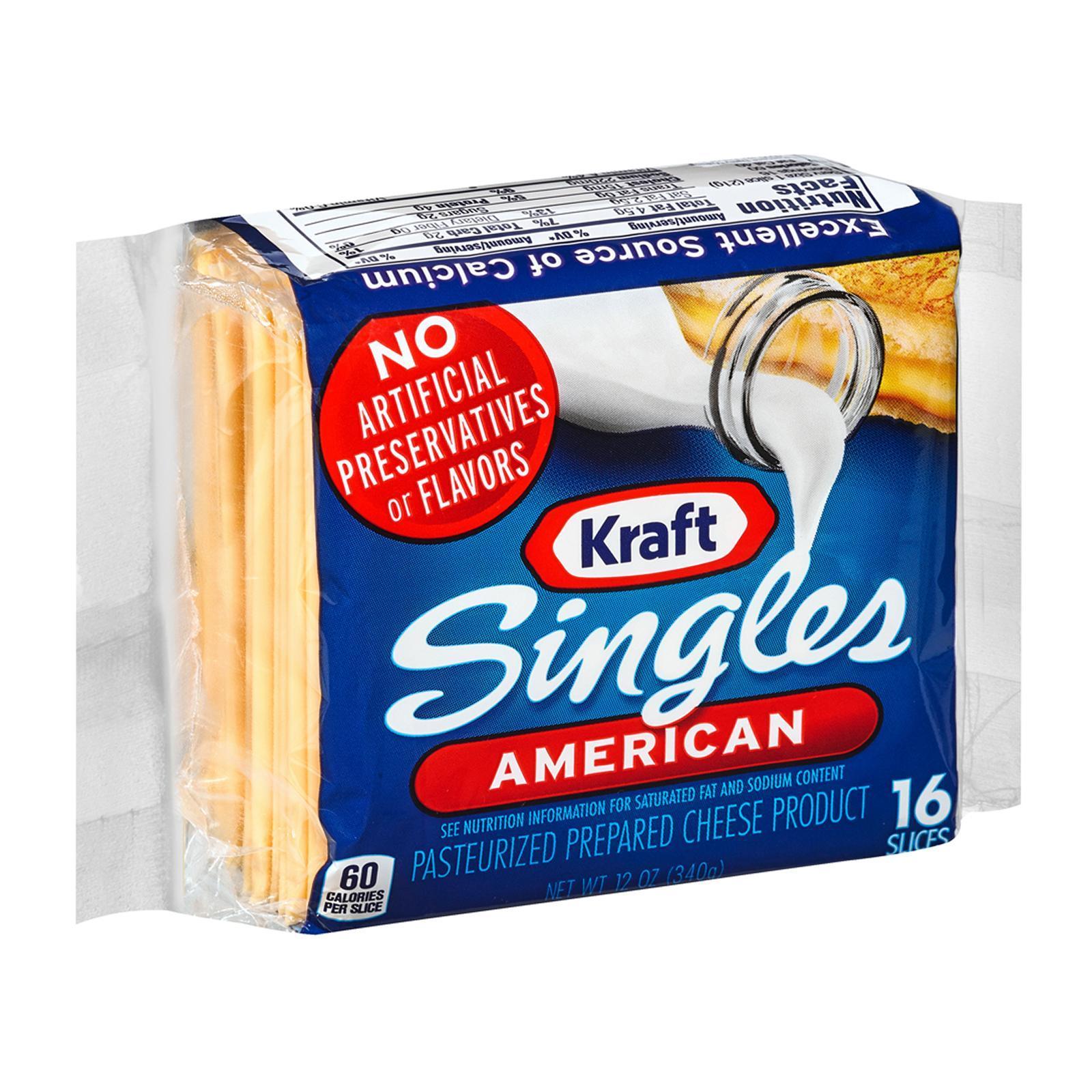 Kraft Singles American Cheese Slices (16 Slices)
