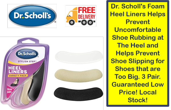 Buy Dr. Scholls Foam Heel Liners Helps Prevent Uncomfortable Shoe Rubbing at The Heel and Helps Prevent Shoe Slipping for Shoes that are Too Big. 3 Pair. Guaranteed Low Price! Local Stock! Singapore