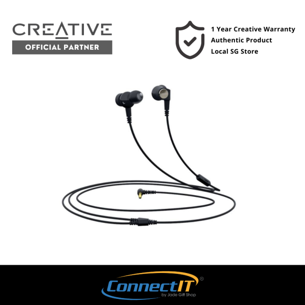 Creative Aurvana Trio LS High-quality Wired Earphones with Liquid Silicone Rubber (LSR) Drivers and Built-In Mic (1 Year Local Warranty) Singapore