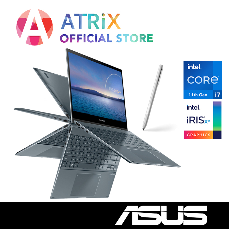 【Same Day Delivery】ASUS Zenbook Flip Intel 11th Gen | 13.3 FHD Touch with Stylus | Intel 11th Gen i7-1165G7 | 16GB RAM | Wifi6 AX | Win10 Home | 2Years ASUS Warranty | UX363EA-EM107T