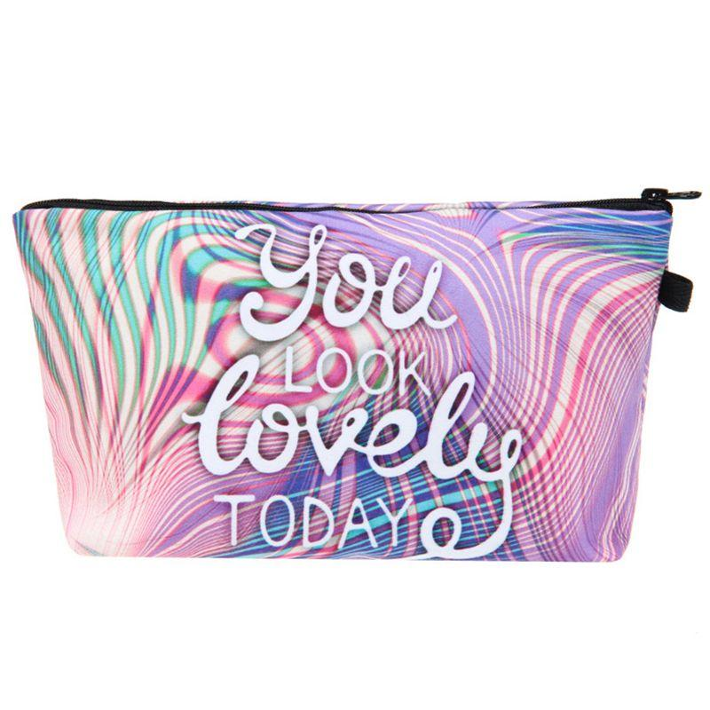 Letter Printed Cosmetic Bags Multifunction for Travel