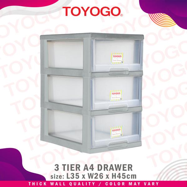 Toyogo Plastic A4 Stationery Drawer (3 Tier) (542-3)