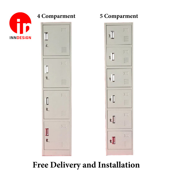Helena 4/5 Compartment High Steel Full High Cabinet / Metal Locker / Safety Deposit Box / Cabinet (Free Delivery and Installation)