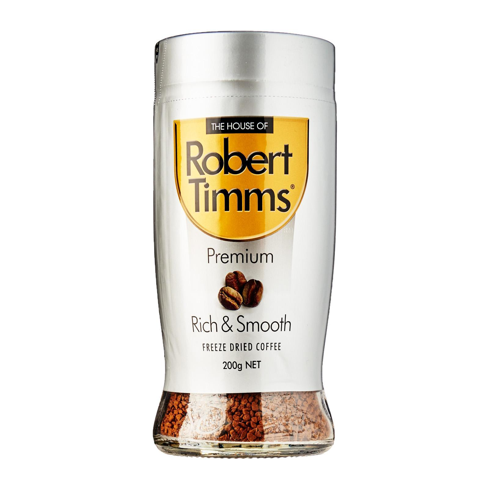 Robert Timms Premium Rich And Smooth Freeze Dried Coffee - 200G