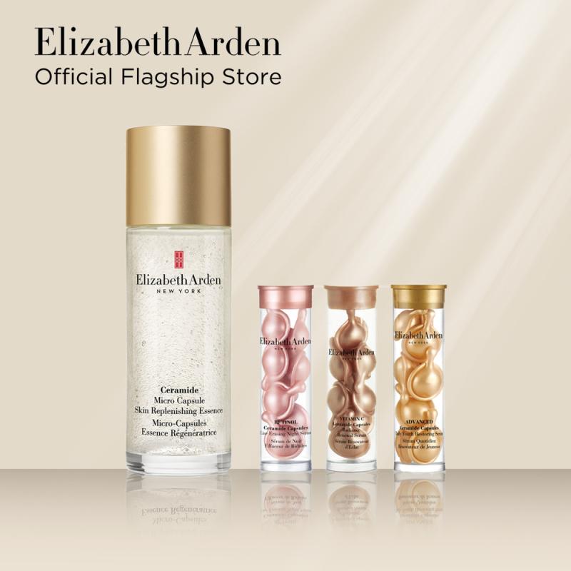Buy Elizabeth Arden Ceramide Micro Essence Skincare Starter Kit: Micro Essence 90ml, Advanced Ceramide 7 capsules, Retinol 7 capsules, Vitamin C 7 capsules Singapore