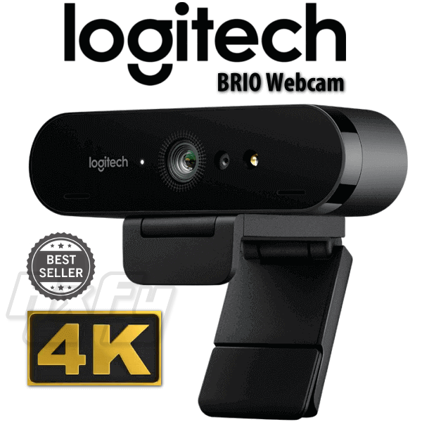 Logitech BRIO 4K Ultra HD Webcam with RightLight 3 and HDR 960-001105 Camera selfie live stream streaming cam twitch