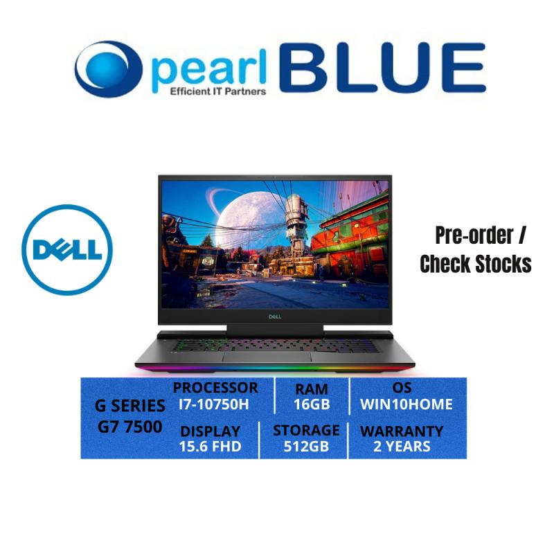 Dell G SERIES   G7 7500   I7-10750H   16GB   512GB   15.6 FHD   2.34KGS   WIFI6   WIN10HOME   2 YEARS WARRANTY