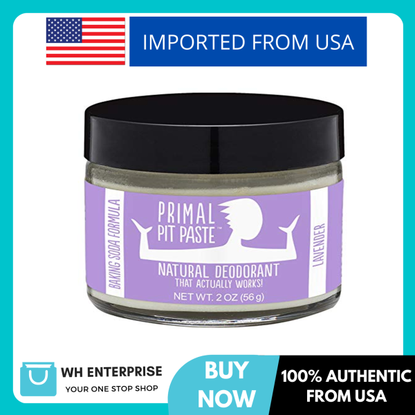 Buy Primal Pit Paste All-Natural Deodorant - Aluminum & Paraben Free - Lavender Deodorant Jar Singapore