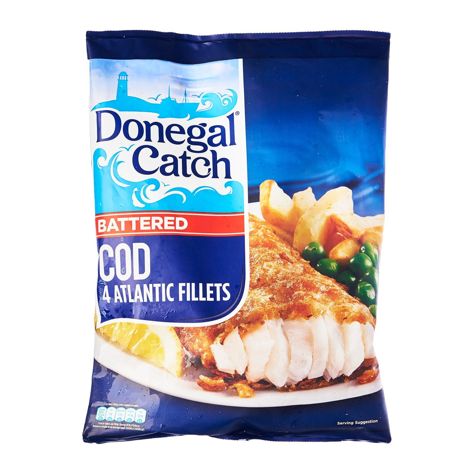 Donegal Catch 4 Battered Atlantic Cod Fillets - Frozen
