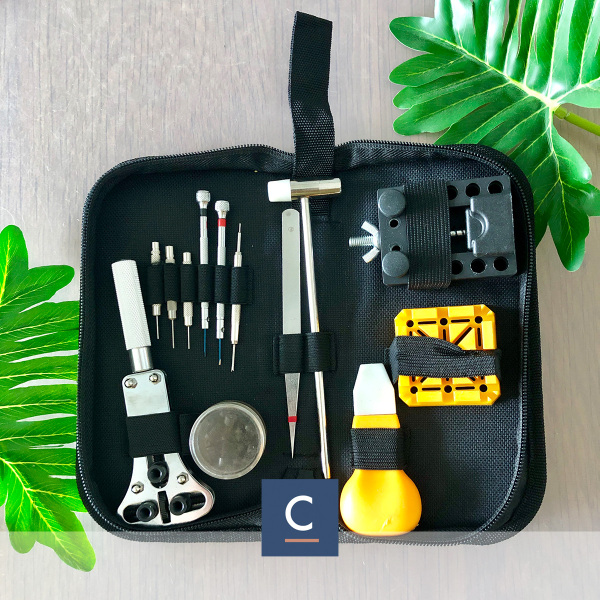 [Local SG Seller] Watch Toolkit Set Watch Tool Set Case Holder Opener Pin Link Spring Bar Complete Repair DIY Tools Kit Basic Series Set