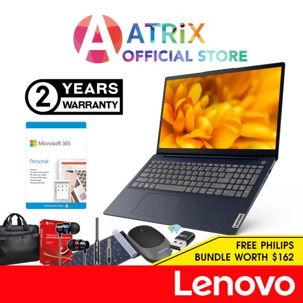 【Free Office 365】Lenovo IdeaPad 3 15IGL05 81WQ009MSB| 15.6 HD | Intel Celeron N4020 | 4GB DDR4-2400 | 128GB SSD | Win10 Home S Mode | 2Yr Lenovo warranty